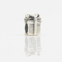 Silver best quality jewelry stores - Best Quality Christmas Gift Box Silver Bead Sterling Silver DIY Jewelry Silver Charm Bead For Pandora Necklace LB12 In Lucky Sonny Store