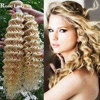 Cheap blonde virgin hair Best deep wave