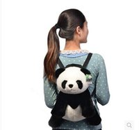 Wholesale about cm lovely panda plush toy Panda design backpack Christmas gift