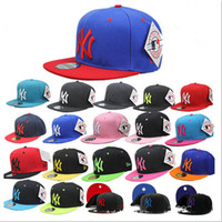 Wholesale Mens Womens Hip hop Baseball Cap Adjustable Snapback Cap NY Basic Hat Baseball Caps