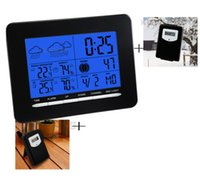 antique outdoor clock - RCC Wireless Weather Station Clock Digital Thermometer Humidity Indoor Outdoor