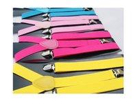Wholesale 1200pc High quality Clip on pants Adjustable belt Braces Candy Suspender Unisex Pants Y back elastic Suspender Braces Z622