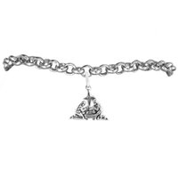 alloy nativity - Religious Nativity Bracelets Rolo Chain Men DIY Jewelry Zinc Alloy Antique Silver Plated A