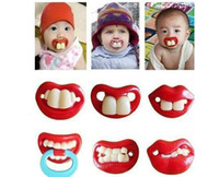 Wholesale baby pacifier funny pacifier Cute Teeth Mustache Baby Boy Girl Infant Pacifier Orthodontic Dummy Beard Nipples Pacifiers DHL