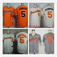 Wholesale Baseball Jerseys Orioles Men ROBINSON Orange White Grey Black stitched Athletic jersey Mix Order High Quality