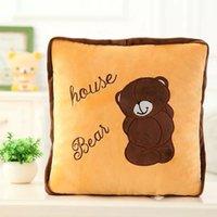 al por mayor oso patrón de tejido-oso 95 * 145cm de dibujos animados lindo reforzar / edredón / manta / 8 patrones para el regalo totoro elección león para el envío libre 3sets niño / lot