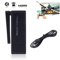 Wholesale Miracast Wifi Display TV Dongle Receiver P HDMI Wireless IPUSH AirPlay Black Have a good quality ZM00123