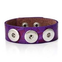 Wholesale Rushed New Design Genuine Leather Noosa Chunks Bracelets Snap D Flower Noosa Charm Bangles Women Jewelry Gift
