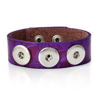 achat en gros de bracelets en cuir fleurs-Rushed 2015 Nouveau design en cuir véritable Noosa Chunks Bracelet Snap 3D Fleur Noosa Charm Bangles Femme Bijoux Cadeau