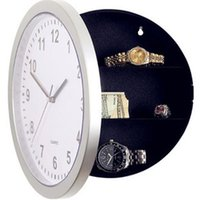 antique storage cabinet - 1pcs new wall clock modern design insurance cabinet storage box clock hidden wall clock safe
