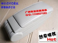 Wholesale Genuine leather car storage box skoda octavia armrest box meters central armrest box black