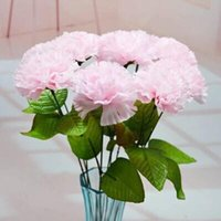 artificial carnations - piece Artificial carnation flower silk carnation bouquet home decoration wedding decor gifts color