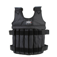 Wholesale Oxford Fabric Adjustable Weighted Vest Jacket Exercise Boxing Training Waistcoat Weight Fitness Vest for Sanda sparring