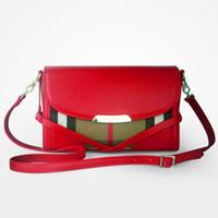 Women discount designer handbags - 2015 designer brand women real leather wallets tote handbags crossbody bags fashion plaid hand mini ladies shoulder bags discount handbags