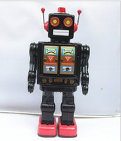 Wholesale Mr D Cell Black Vintage Style Collectible Electron Robot with Gold Chest
