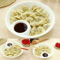 Wholesale New Plastic Fruit Bowl Dumplings Dish Dual layer Disc Tool