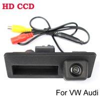 reversing camera ccd - TOP Special Trunk handle CCD Car Rear View Camera Reverse Backup Camera For VW Passat Tiguan Golf Touran Jetta Sharan Touareg Audi
