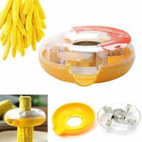 Wholesale 1pcs Novelty Kitchen Tool Peel Corn Cob Kerneler Thresher Remover Peeler Stripper