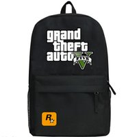 Wholesale Black GTA day pack V five school bag Nylon daypack Quality schoolbag Grand theft auto backpack