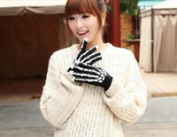 Wholesale Halloween gloves for men or women Halloween winter male personality Black color touch screen gloves knitted thin section ghost claw gloves
