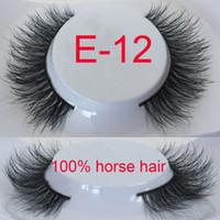 Wholesale horse eyelashes gift for sexy girls christmas present natural eyelashes ponytai eyelashes E12