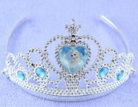 Wholesale 2015 Best Gift Children Girl s Frozen Tiara dress Elsa Anna princess Crowns hearts Diamond tiara baby girls party Hair Accessories HY34