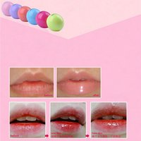 Wholesale 12pcs candy color Moisturizing lip balm Ball natural organic embellish lip gloss Natural Plant Sphere lipstick GI2001