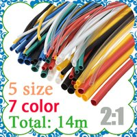 Cheap Free Shipping 70pcs Ratio 2:1 5 Sizes Assortment Heat Shrink Tubing Tube Sleeving Wrap Wire Cable Kit