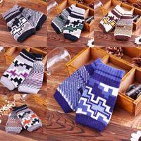 Garçons doigt moufle Avis-Mitaines Gants de gros-Men Half Finger Hiver chaud de laine épais Cachemire Knitting Outdoor Nouveauté Mitaines Homme Boy One Size