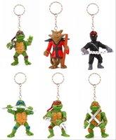 Wholesale TMNT Teenage Mutant Ninja Turtle key chains rings Cartoon Minion Action Figure Keychain For Christmas Gift Toy