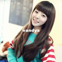 Wholesale Female long hair wig slightly curled wig new fashion Qi Liu lovely long hair and lively temperament College