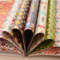 Wholesale New PINK FLOWER WRAPPING PAPER x30cm Gift Wrap page for Each Set different Pattern