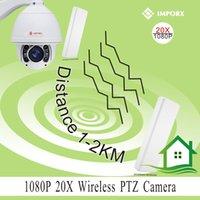 achat en gros de caméra de sécurité wifi zoom-Caméra de sécurité wifi sans fil de marque de suivi automatique de haute vitesse 1080p 20x zoom optique panoramique inclinaison caméra dôme zoom surveillance