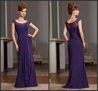 aubergine purple - Aubergine Sheath Mother Of The Bride Groom Dresses KR Scoop Neckline Cap Sleeves Formal Dress Stretch Mesh Lace Evening Gowns