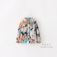 Cheap 2015 New Spring Clothes Printing camouflage girls shirt  Children long sleeve shirt
