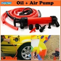 air transfer kits - Car Styling Multi function Car Tire Water Oil Fuel Change Transfer Gas Liquid Pipe Siphon Tool Air Pump Kit Inflatable Pump