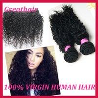 Cheap Top Quality Unprocessed Malaysian Virgin Hair Deep Wave Kinky Curly Virgin Hair 8A 3Pcs Lot Hair Weft Wavy Hair Extensions Free Shipping!