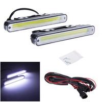 Wholesale Pair Energy Conservation W COB LED DRL Daytime LED Running Light Lamp Bulb ZM00044