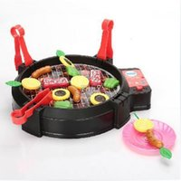bbq house - Christmas gifts New Children Kid Simulation Kitchen Electric BBQ Grill Child Play House Parent Child Toys