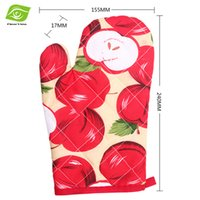 kitchen oven gloves - 1PC Printed Cotton Kitchen Oven Mitts Cooking Tools Thicken Microwave Oven Gloves dandys