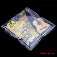 SC12 Guitare Six Cordes Nylon Argent Placage Set Super Light pour guitare classique acoustique 6pcs / set
