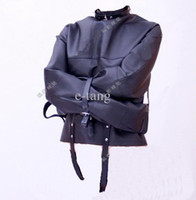 Wholesale bdsm Sex Products sex toys Bondage Black Sofe Leather Adjustable Bolero Straitjacket