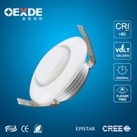 bathroom ceiling materials - Round W mini spotlight aluminum and pc material led cabinet light epistar cob ceiling lamp ac85 V
