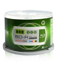 all'ingrosso blue ray disc-Spedizione gratuita! - 50 PCS / Pack - RITEK BD-R 12X 25GB BDR Disco stampabile Blu-ray BD-R12x Disco vuoto velocità
