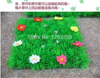 Wholesale Simulation of lawn encryption simulation flower artificial turf plastic lawn grass belt thickening
