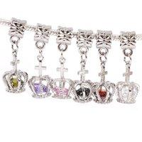 Wholesale New silver charm European Bead Core Charm corolla shape pendant fit pandora charm bracelets