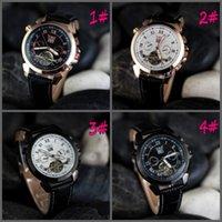 2015 regalo di Natale di marca dei nuovi uomini di orologi JARAGAR completamente automatiche Mechanical Clock Tourbillon Calendario doppie Ore Maschio Guarda