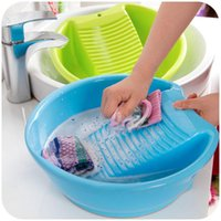 plastic tubs - with washboard large inch thick plastic laundry tub durable round baby laundry tub K3620
