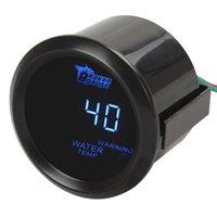Wholesale 12V Digital Blue LED Electronic Water Temp Temperature Gauge Fahrenheit Sensor Kit for Car Trucks CEC_531