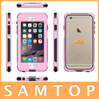 Wholesale Waterproof Dustproof Shockproof Case Cover Protector for iPhone iPhone Plus Colors Water Shock Dust Snow Proof Retail Package